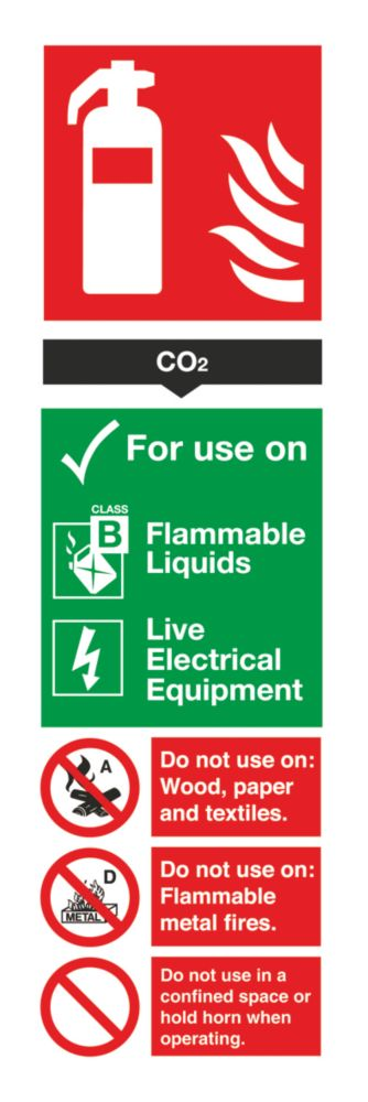 Image of CO Extinguisher Sign 280 x 90mm