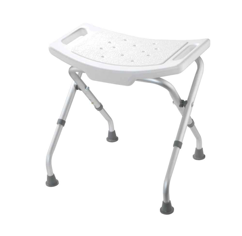 Image of Croydex Adjustable Shower Seat White 498 x 495 x 475-510mm