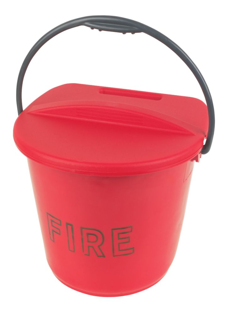 Image of Plastic Fire Bucket & Lid 10Ltr