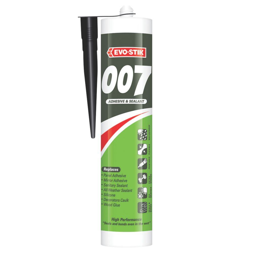 Image of Evo-Stik 007 All-in-One Sealant & Adhesive Black 290ml