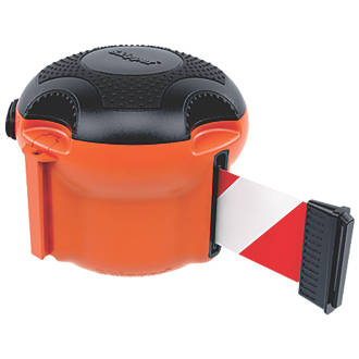 Image of Skipper XS Retractable Barrier Orange with Red/White Tape