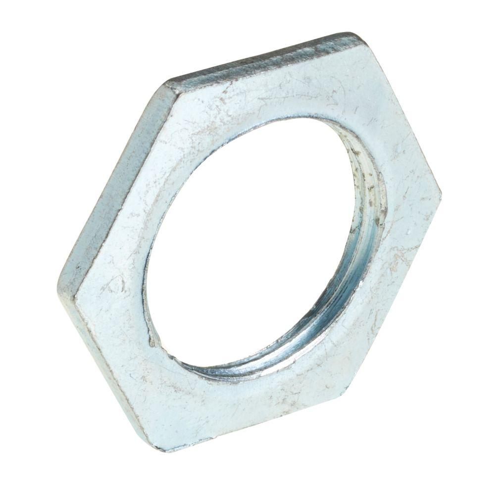 Image of Deta BZP Metal Locknuts 20mm Pack of 10