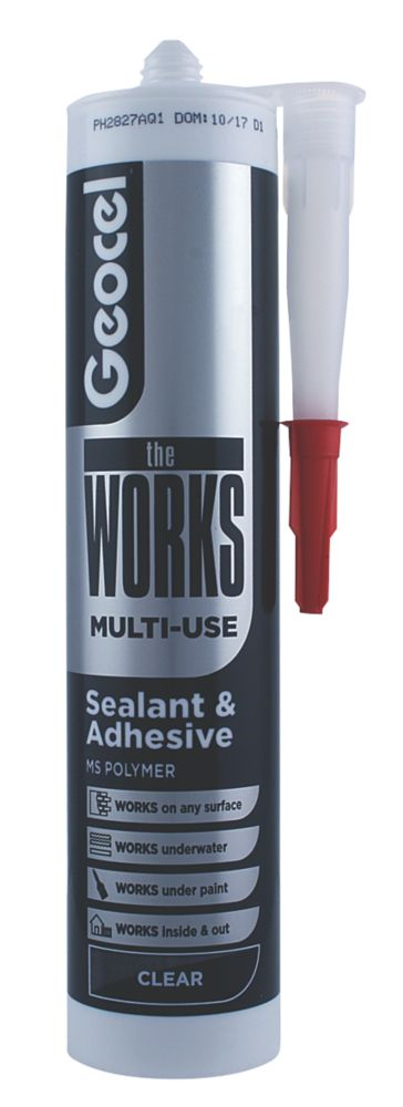 Image of Geocel The Works Sealant & Adhesive Clear 290ml