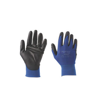 Image of Ansell HyFlex 11-618 Ultra-Lightweight PU Palm Gloves Blue Large
