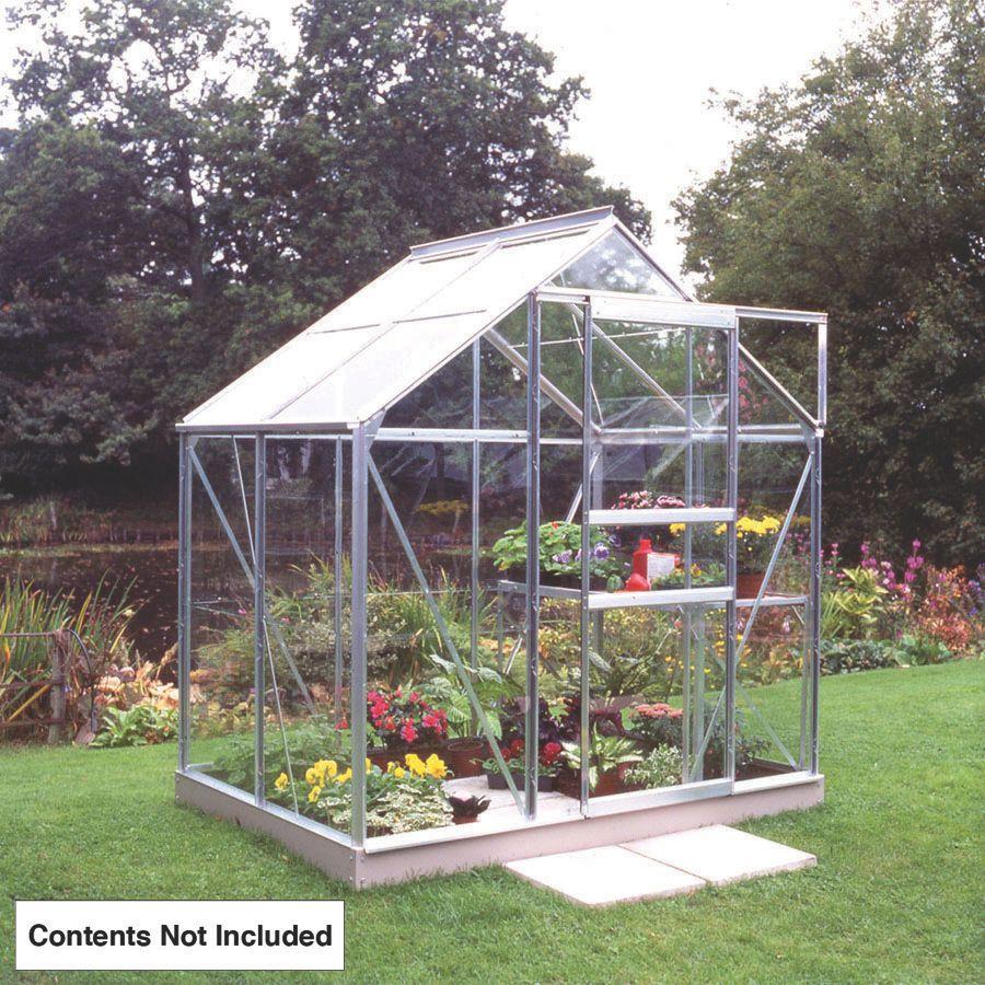 Image of Halls Popular Greenhouse Aluminium Toughened Glass 6' x 4'