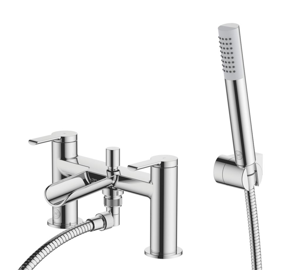 Image of Watersmith Heritage Abbey Waterfall Deck-Mounted Bath / Shower Mixer Tap
