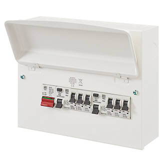 Image of MK Sentry 12-Module 6-Way Populated Split Load Main Switch Consumer Unit