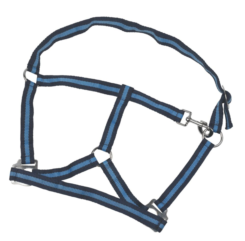 Image of Kerbl Cob Head Collar Navy & Pastel Blue