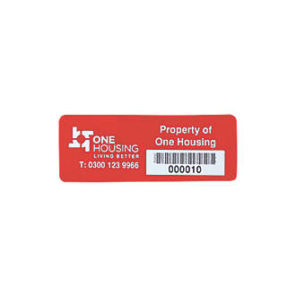 Image of Asset Protect Asset Tags Red 19 x 38mm 100 Pack