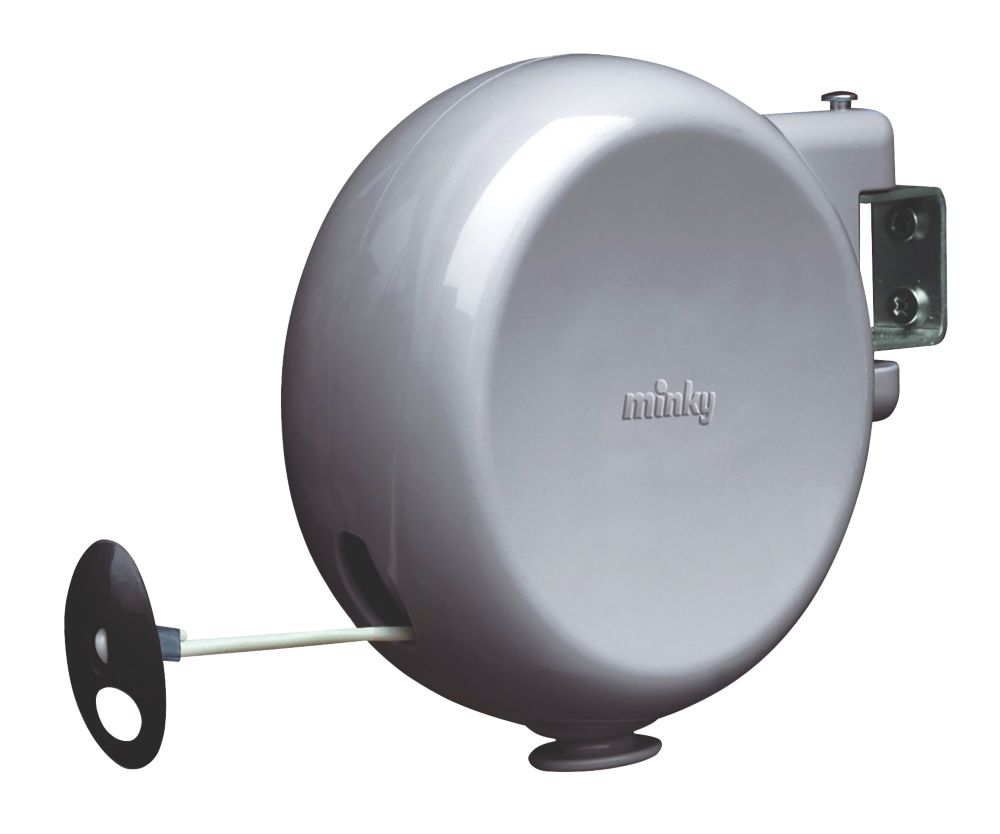 Image of Minky 1 Line 15m Grey Retractable Washing Line