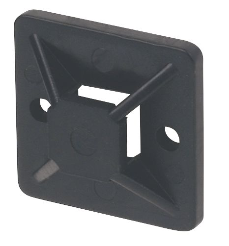 Image of 2-Way Adhesive Base Black 19 x 19mm Pack of 100