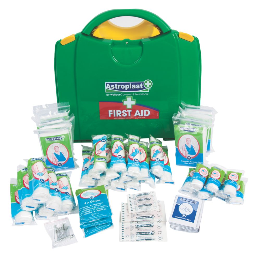 Image of Wallace Cameron 1002116 50 Person HSE Green Box First Aid Kit