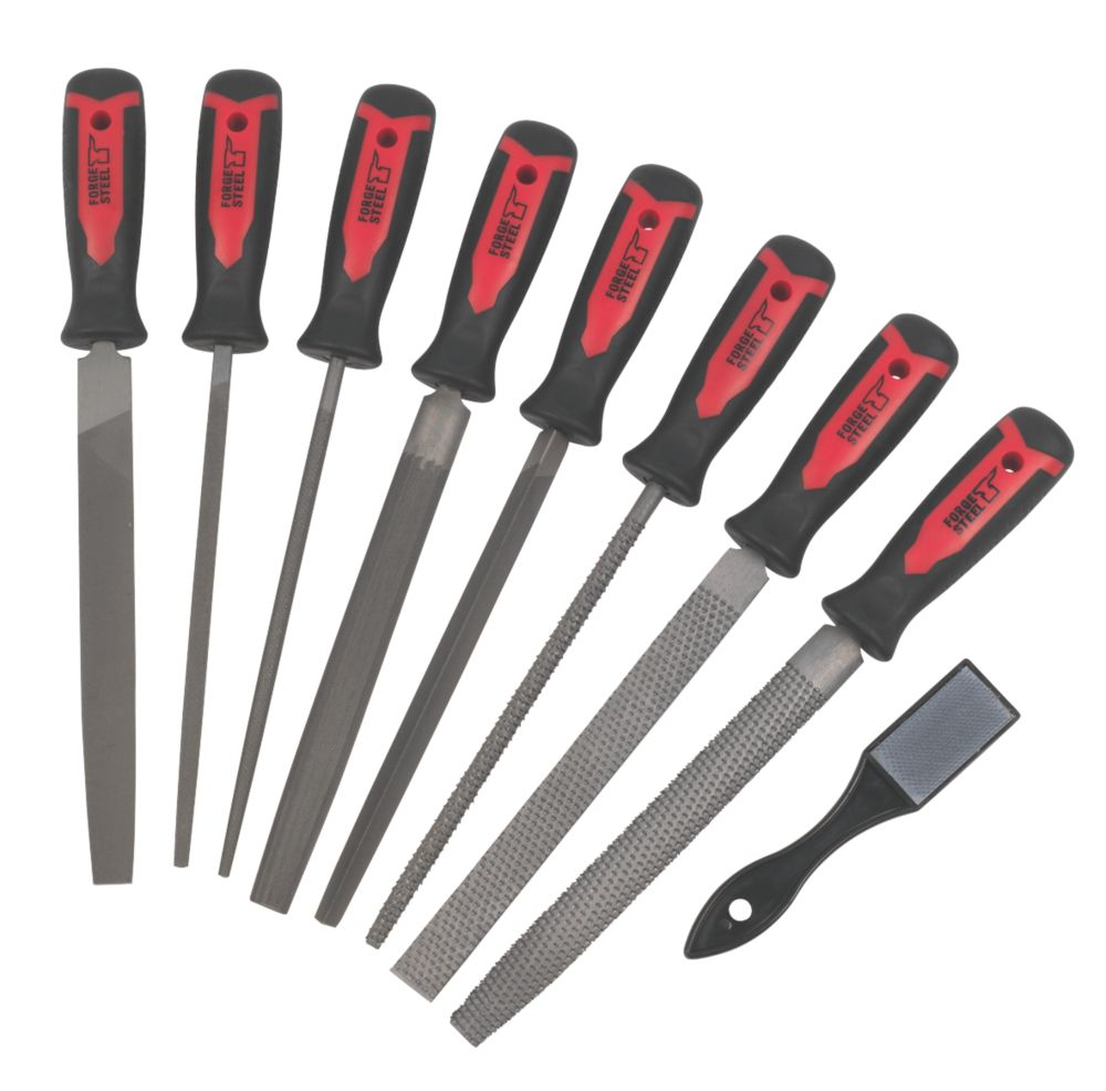 """Image of Forge Steel File & Rasp Set 8"""" 9 Pieces"""