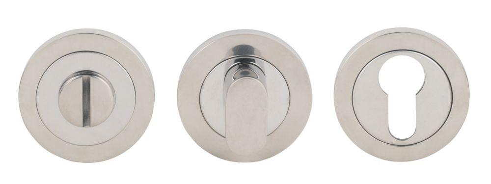 Image of Serozzetta Bathroom Thumbturn/Release Bright Stainless Steel 52mm