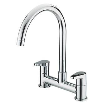 Image of Bristan QST DSM C Quest Surface-Mounted Deck Sink Mixer Kitchen Tap Chrome
