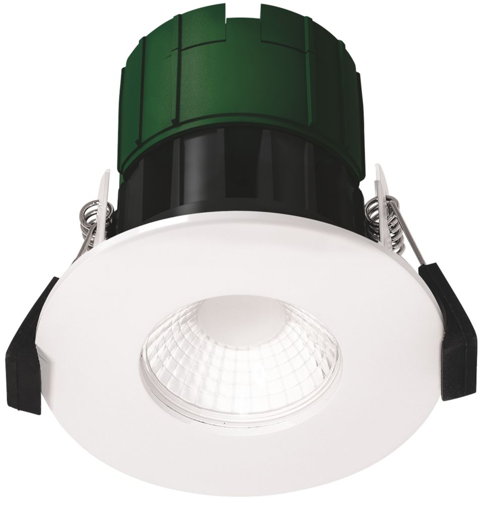 Image of Luceco EFT60WCC Fixed Fire Rated LED Downlight White 600lm 6W 220-240V