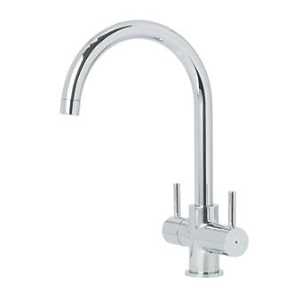Cooke and Lewis Double Lever Mono Mixer Kitchen Tap Chrome ...
