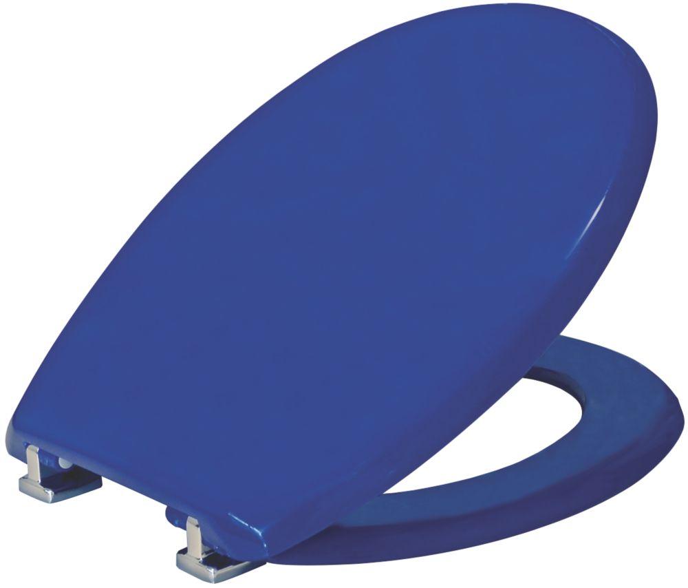 Image of Carrara & Matta Atlantic Spa Standard Closing Toilet Seat Thermoplastic Blue