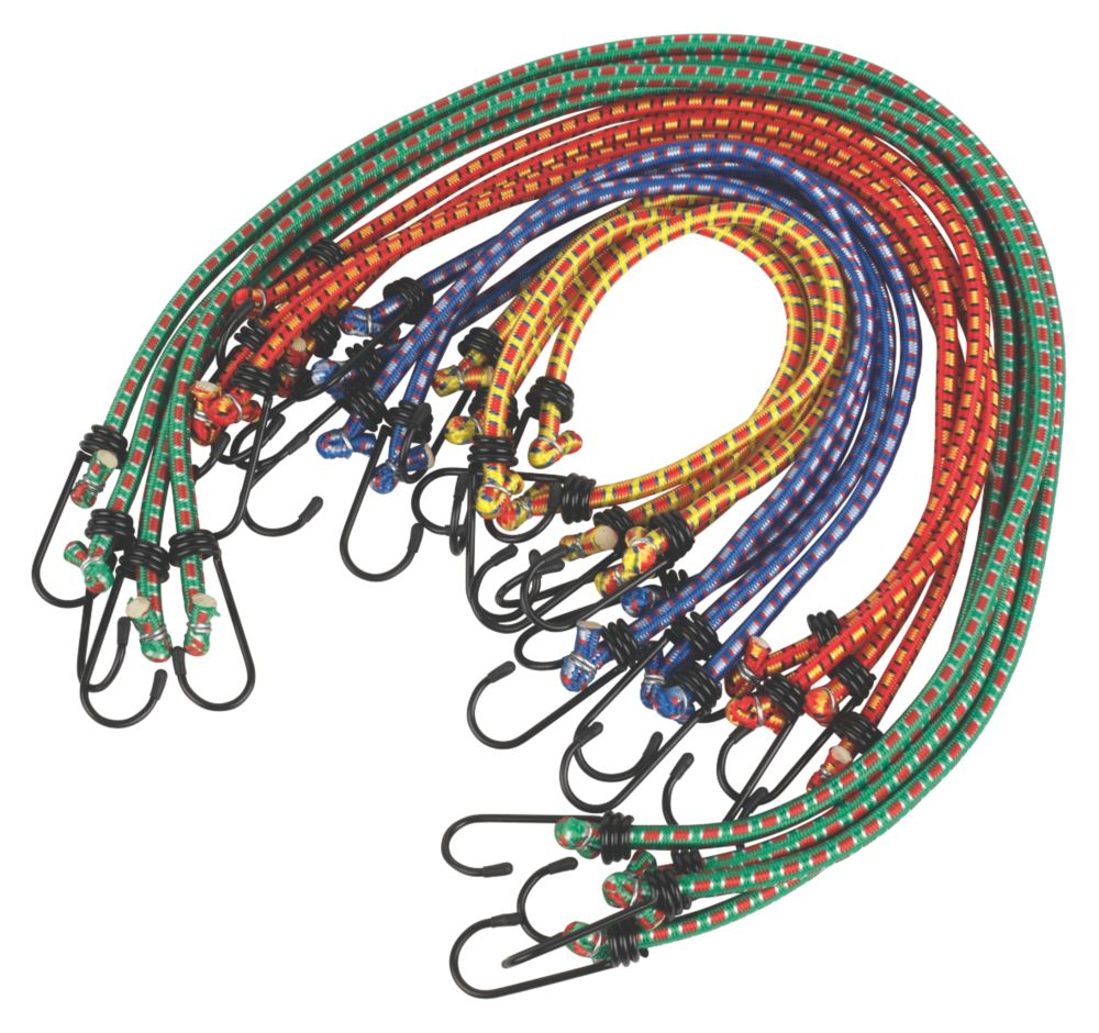 Image of Bungee Cord Assortment 16 Pieces x 8mm