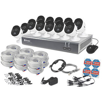 Image of Swann SODVK-1645812-UK 16-Channel Wired CCTV Kit & 12 Cameras
