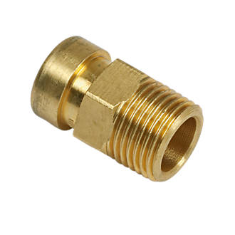 """Image of Tectite Sprint Brass Push-Fit Adapting Male Coupler 15mm x ½"""""""