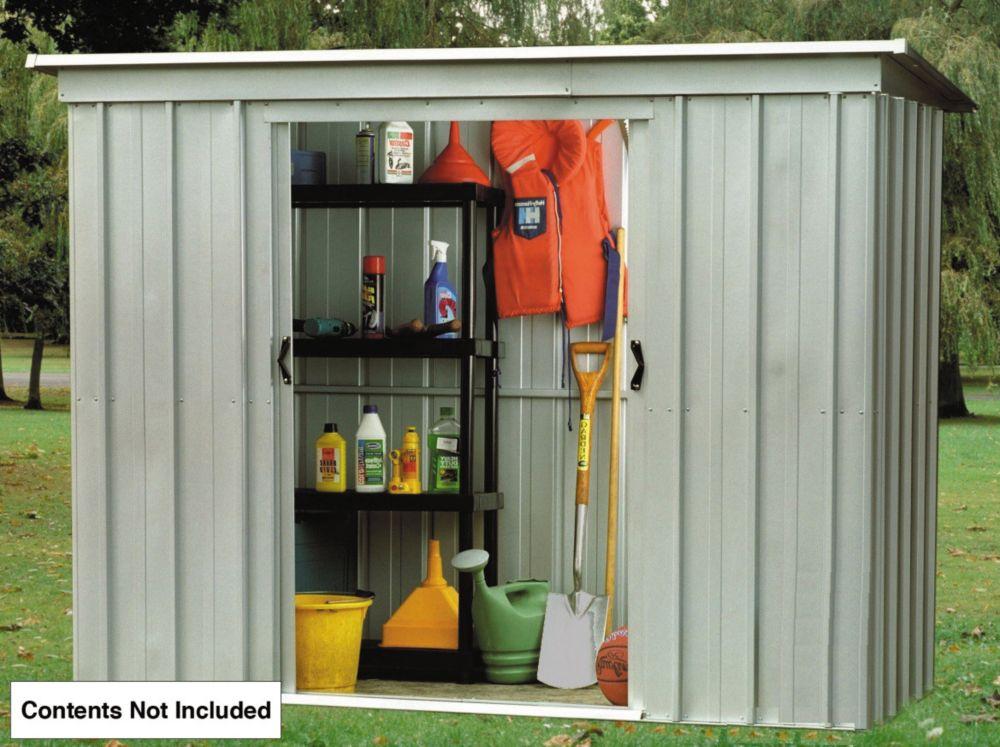 Image of Yardmaster Sliding Door Pent Store Metal 8 x 4'