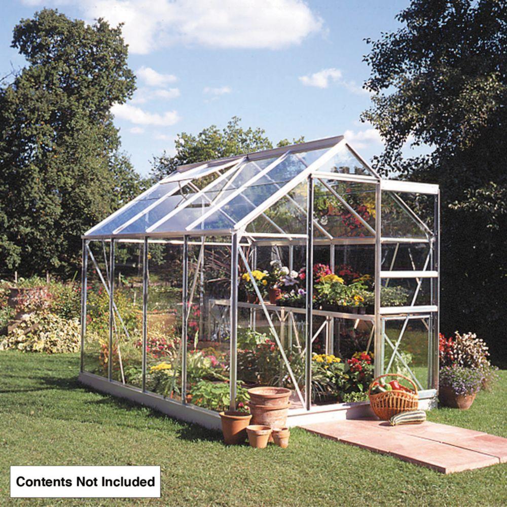 Image of Halls Popular Greenhouse Aluminium Toughened Glass 6' x 10'