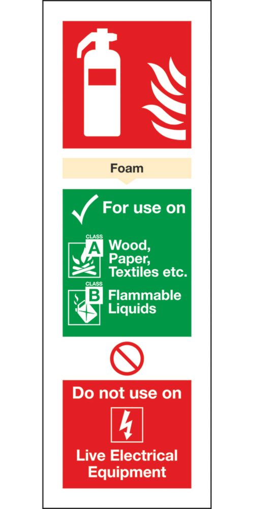 Image of Foam Extinguisher ID Signs 280 x 90mm 100 Pack
