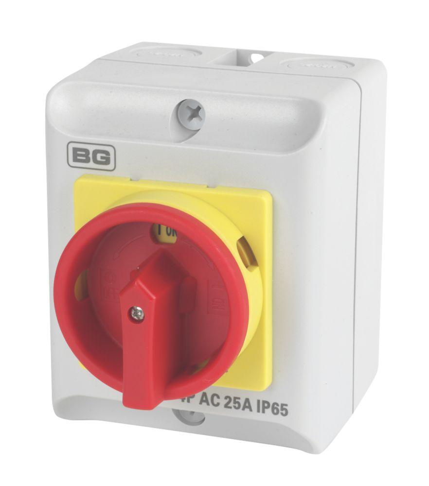 Image of BG 4-Pole Rotary Isolator Switch 25A 230/400V