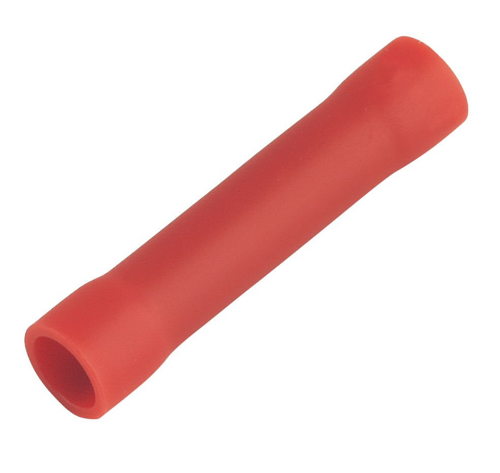 Image of Insulated Crimp Red Butt Pack of 100