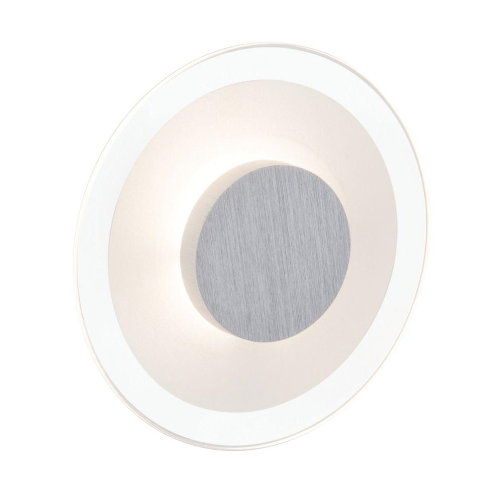 Image of Brilliant Budapest Round LED Wall Light Satin Chrome 5W 240V