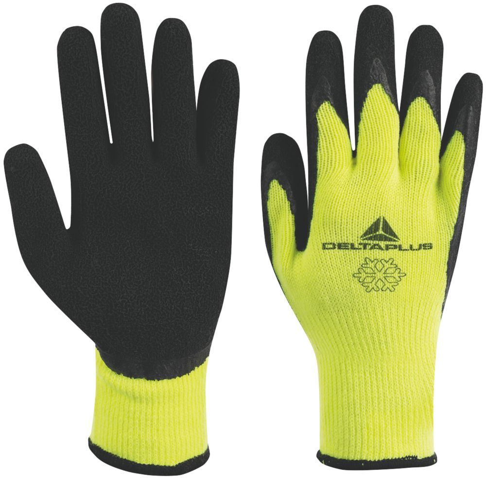 Image of Delta Plus Apollon VV735 Latex Thermal Work Gloves Yellow/Black Large