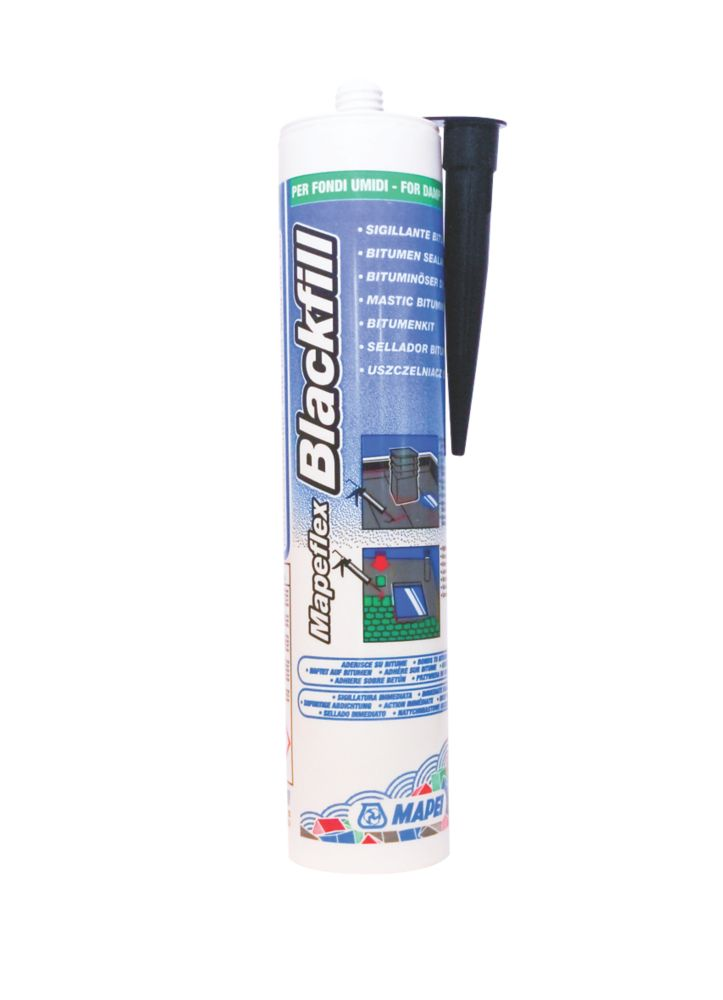 Image of Mapei Blackfill Bitumen Sealant Black 300ml