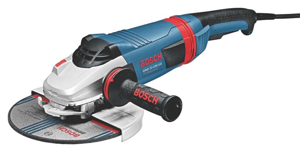 "Image of Bosch GWS 22-230 LVI 2200W 9"" Angle Grinder 230V"