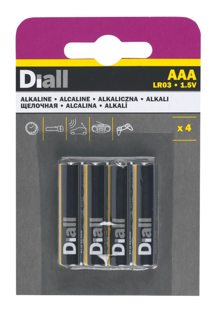 Image of Alkaline AAA Batteries 4 Pack