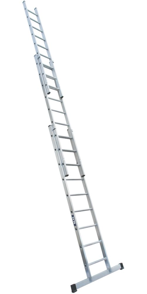 Image of Lyte 2-Section Aluminium Industrial Heavy Duty Ladder 6.24m
