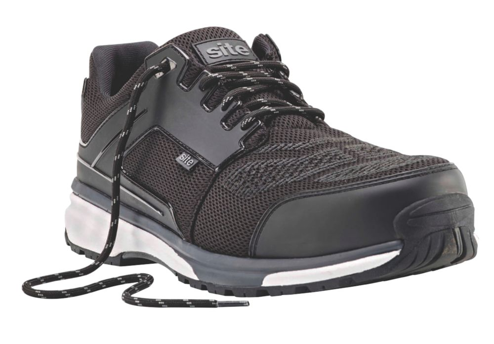 Image of Site Agile Sports Style Safety Trainers Black Size 10