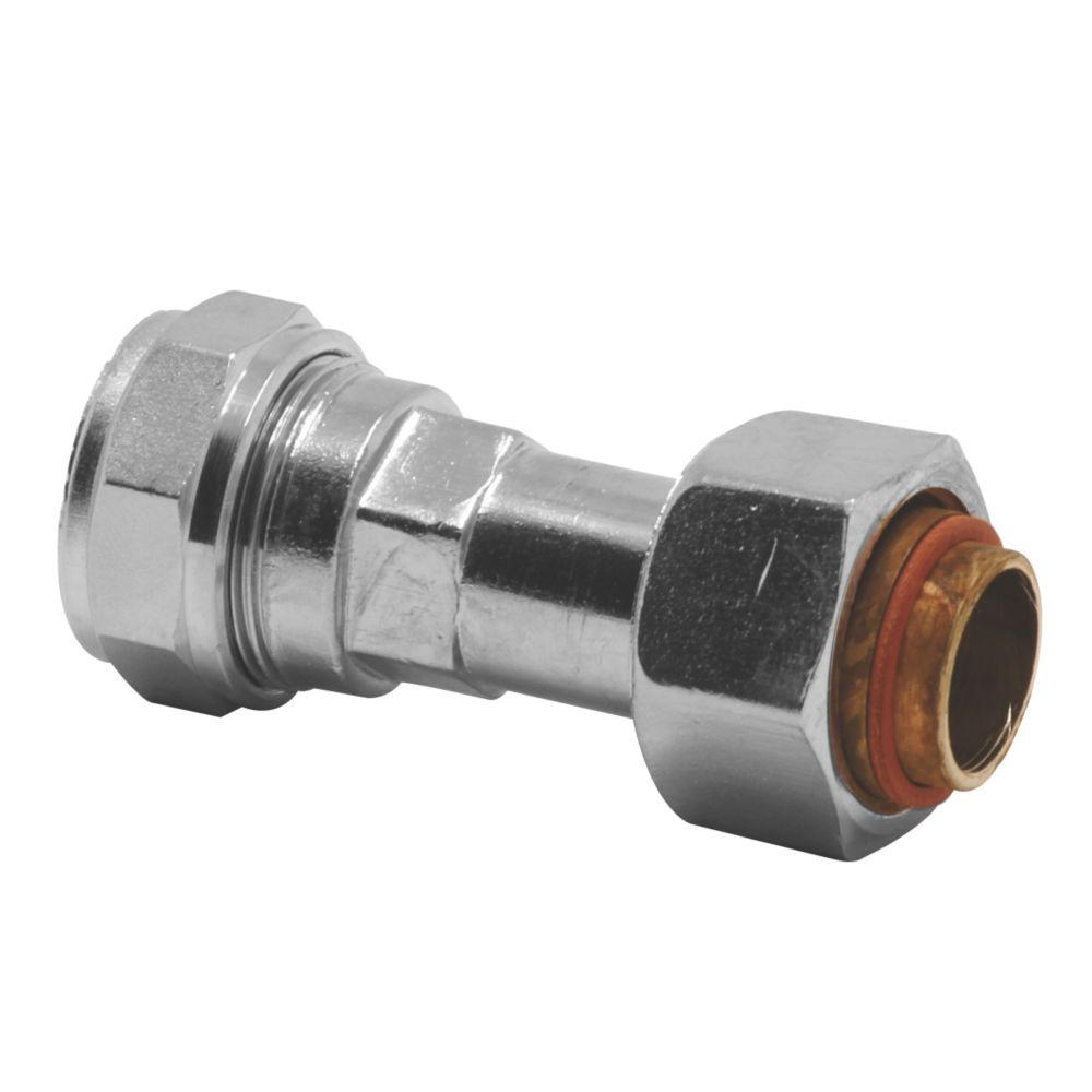 Image of Pegler PX43CP Straight Swivel Tap Connector 15mm x 12mm