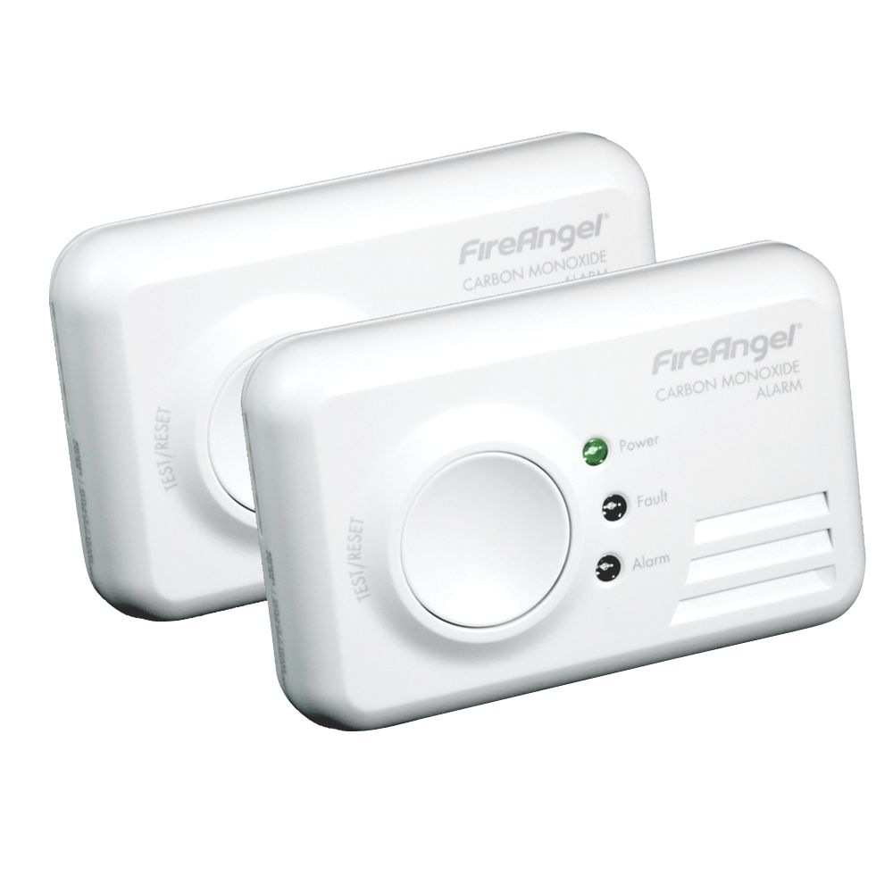 Image of FireAngel TCO-9XQ 7-Year Carbon Monoxide Alarm 2 Pack