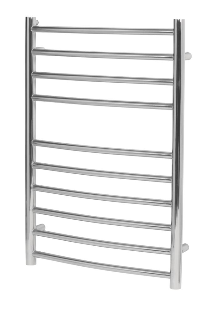 Image of Reina EOS Curved Ladder Towel Radiator Stainless Steel 720 x 500mm 1562Btu
