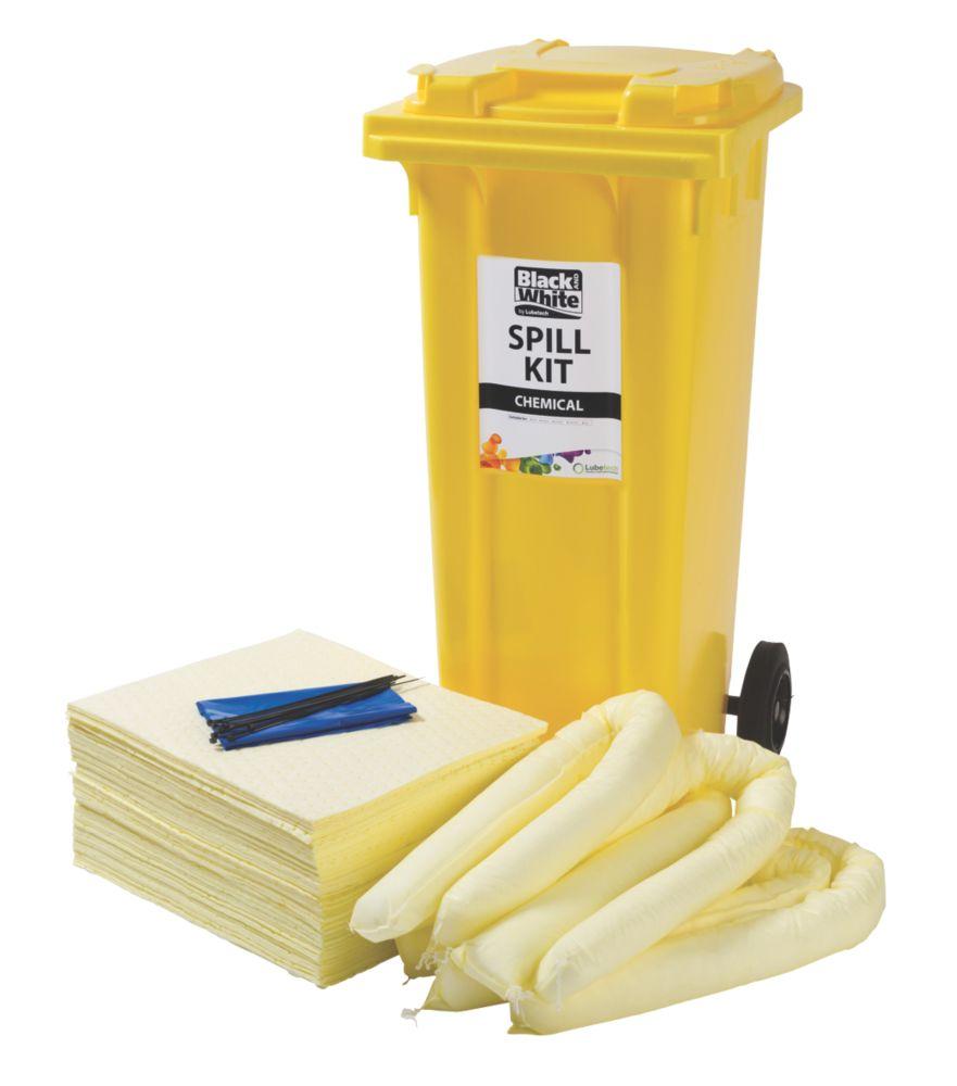 Image of Lubetech 120Ltr Black & White Chemical Spill Response Kit
