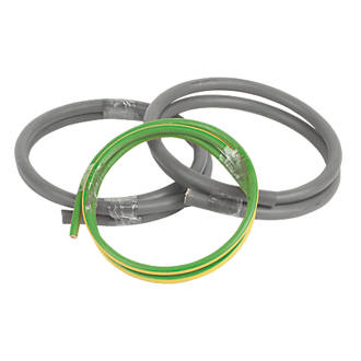 Image of Prysmian 6181Y & 6491X Grey & Green/Yellow 1-Core 25mm² Meter Tails Cable 1m Coil