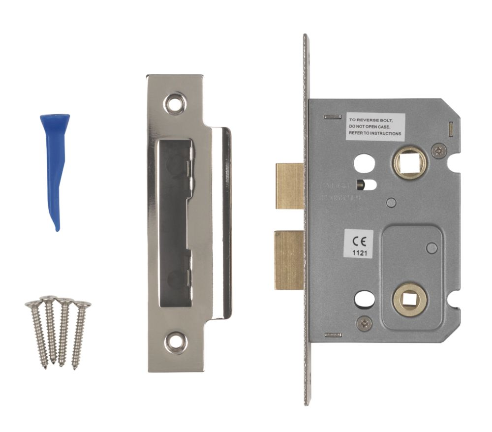 Image of Smith & Locke Bathroom Mortice Lock Polished Chrome 65 x 22mm