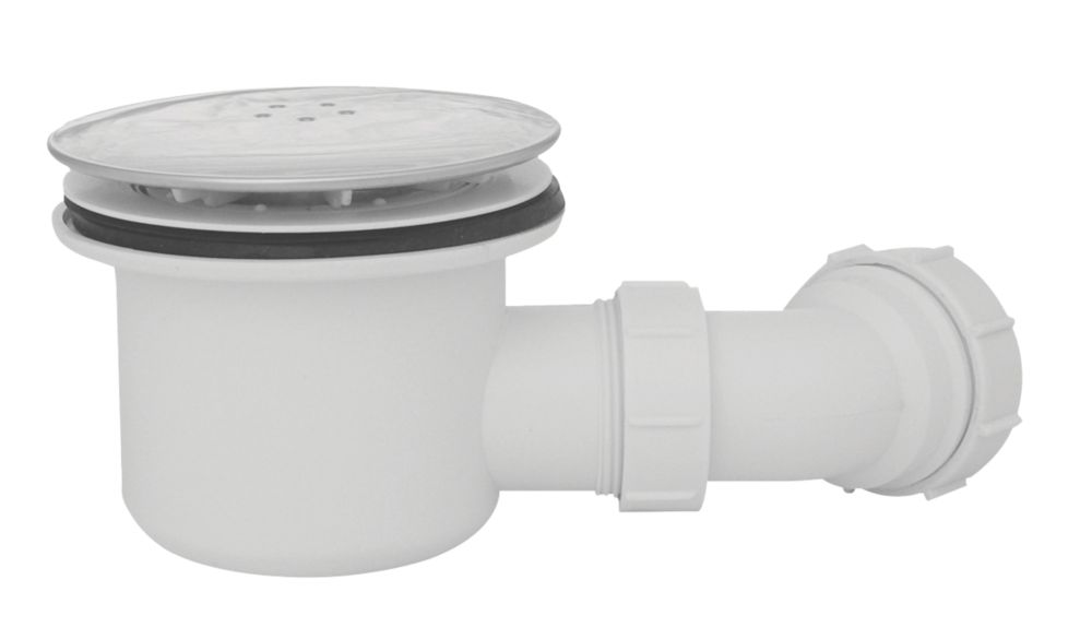 Image of Opella Shower Waste White / Chrome 115mm
