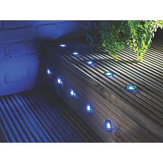 Saxby ikon pro led deck lights cool white 25mm 10 pack decking lap apollo led deck light kit polished stainless steel blue 005w 10 pack mozeypictures Image collections
