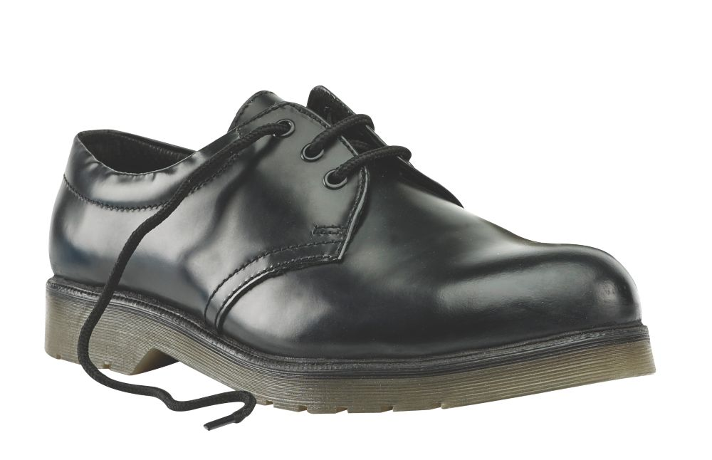 Image of Sterling Steel Cushion Sole Safety Shoes Black Size 6