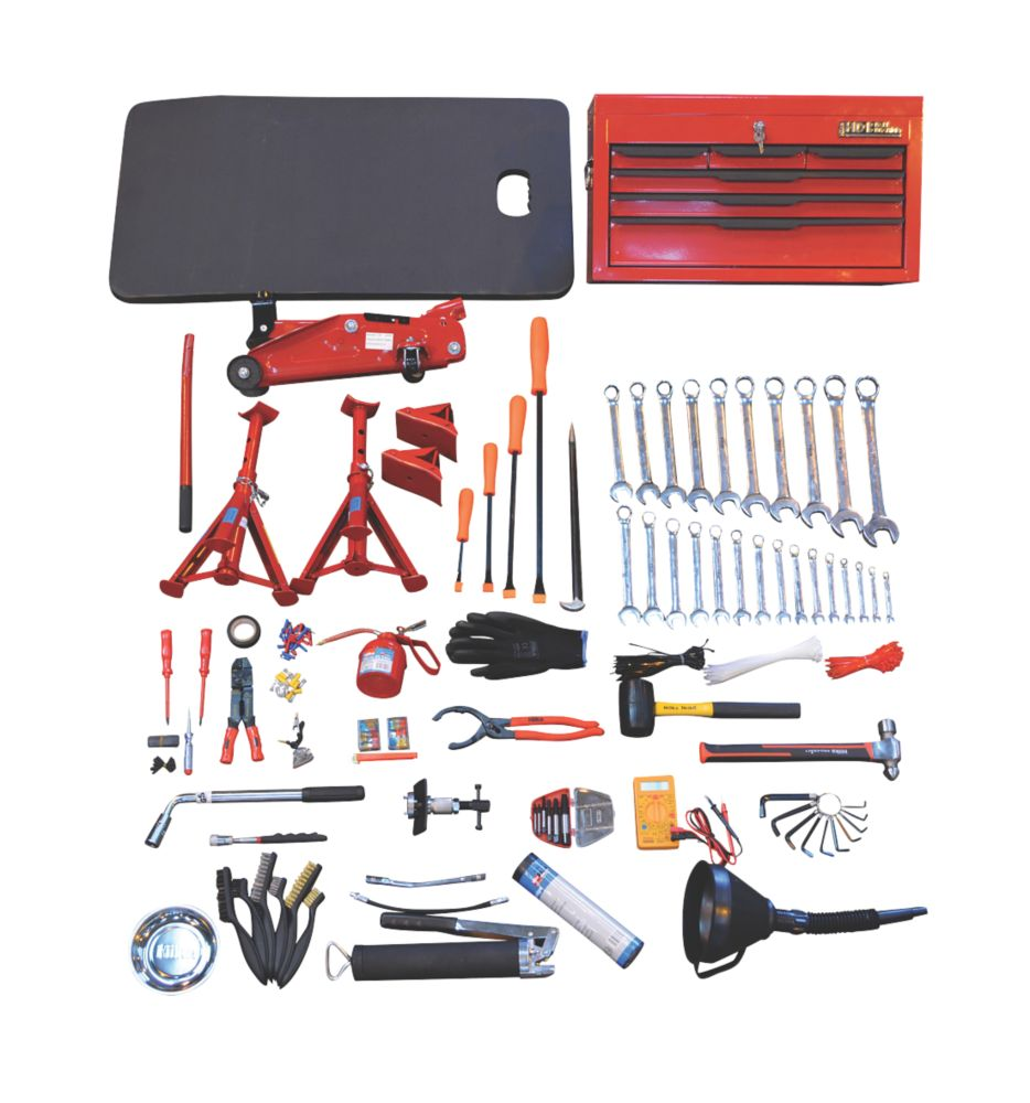 Image of Hilka Pro-Craft 6-Drawer Mechanics Service Kit & Tools