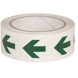 Image of Nite-Glo Directional Arrow Tape Green & White 40mm x 10m