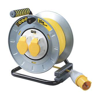 Image of PRO XT OTMU30162LV-XD 16A 2-Gang 30m Cable Reel 110V
