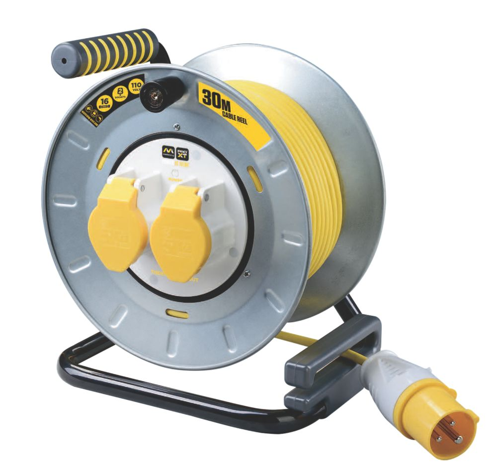 Image of PRO XT Site Cable Reel 2-Gang 110V 30m